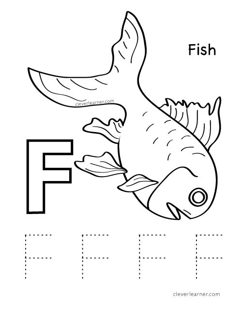 F Worksheets for Preschool Letter F Writing and Coloring Sheet