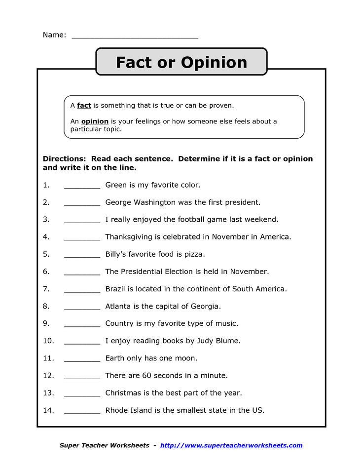 Fact or Opinion Worksheet Fact Vs Opinion Worksheet Google Search