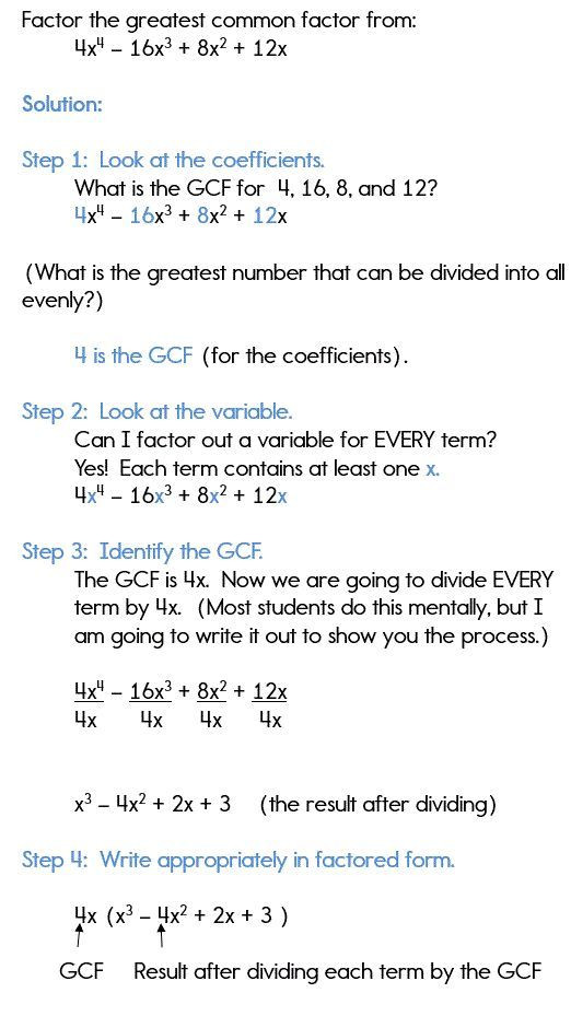 Factoring Polynomials Gcf Worksheet 30 Factorisation Class 8 Worksheets In 2020