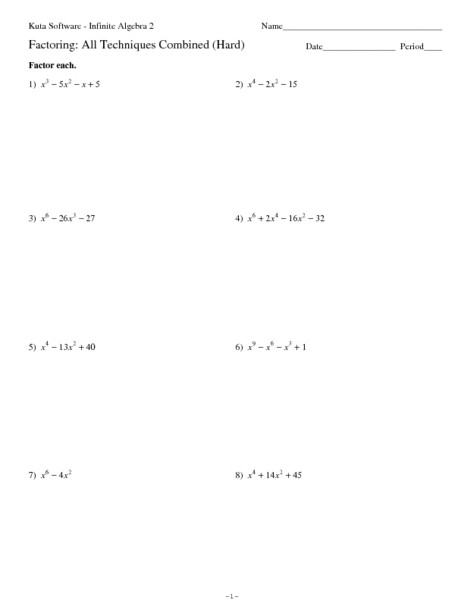 Factoring Polynomials Gcf Worksheet 32 Factoring Pletely Worksheet with Answers Worksheet