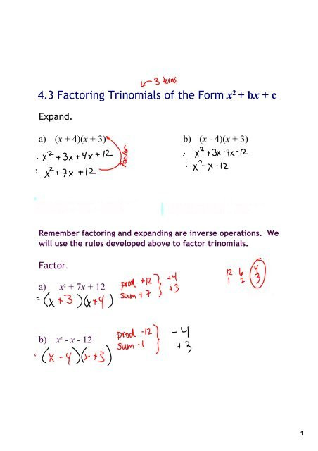 Factoring X2 Bx C Worksheet Factoring X2 Bx C Worksheet Answers Promotiontablecovers