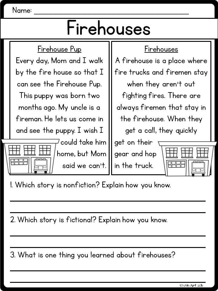 Fiction Vs Nonfiction Worksheet Difference Between Essay Nonfiction