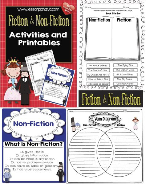 "Fiction Vs Nonfiction Worksheet How to"" Writing and Non Fiction Activities"