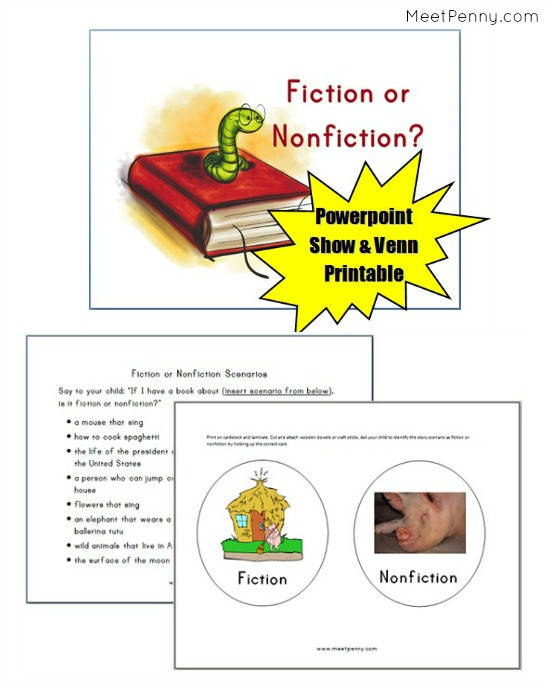 Fiction Vs Nonfiction Worksheet Teaching Fiction and Nonfiction Free Powerpoint Meet Penny
