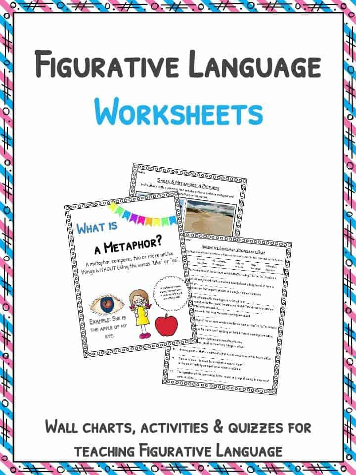 Figurative Language Review Worksheet Figurative Language Worksheets