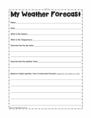 Forecasting Weather Map Worksheet 1 My Weather forecast Worksheets
