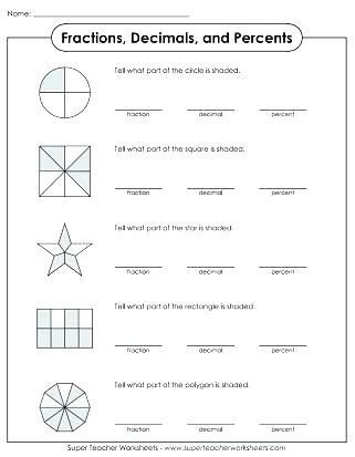 Fraction Decimal Percent Worksheet Pdf Fraction Decimal Percent Conversion Worksheet Kindergarten