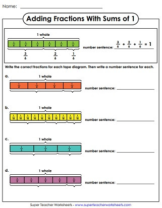 Fractions Greater Than 1 Worksheet Adding Fractions & Mixed Numbers Worksheets