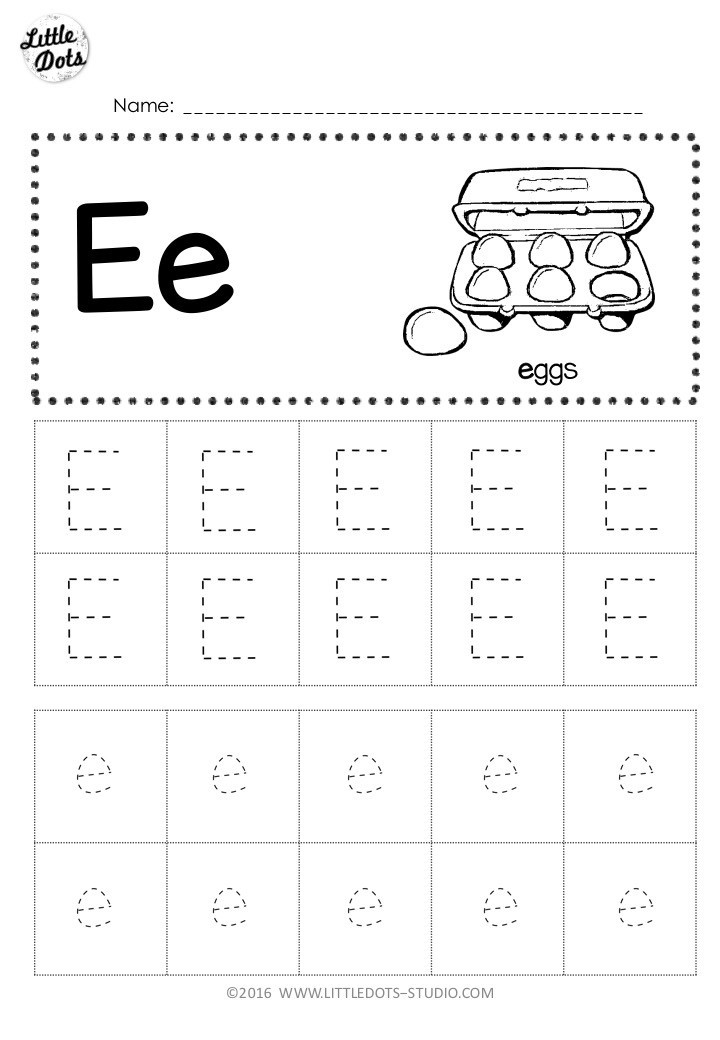 Free Letter Tracing Worksheets Pdf Free Letter E Tracing Worksheets