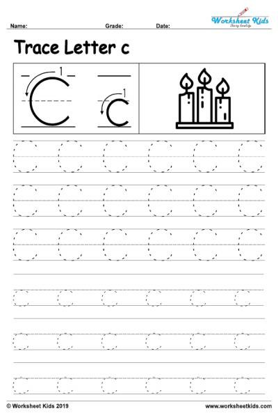 Free Letter Tracing Worksheets Pdf Letter C Alphabet Tracing Worksheets Free Printable Pdf