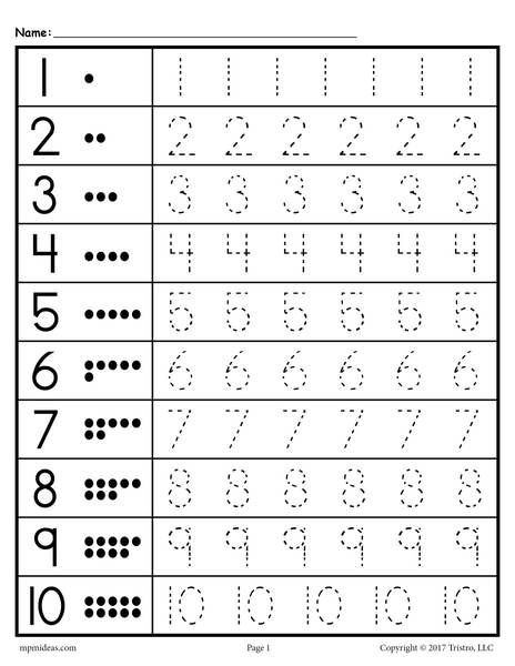 Free Letter Tracing Worksheets Pdf Tracing Worksheets Numbers 1 20