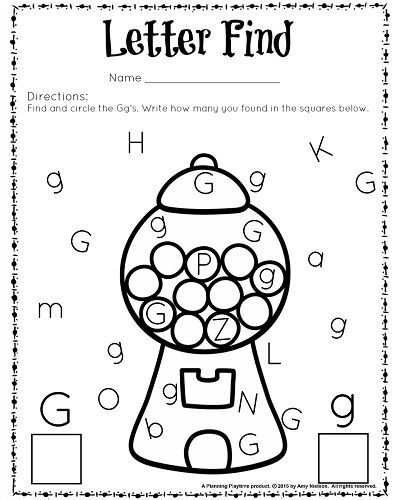 G Worksheets for Preschool Cute Letter Find Worksheets with A Freebie
