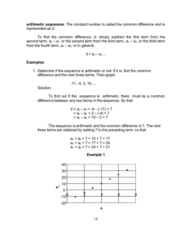 Geometric and Arithmetic Sequences Worksheet Arithmetic Sequence Worksheet Algebra 1 Promotiontablecovers