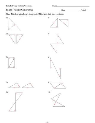 Geometry Worksheet Congruent Triangles 4 Right Triangle Congruence by Hhs Geometry issuu