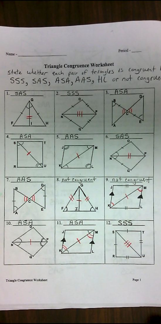 Geometry Worksheet Congruent Triangles Answers Geometry All Mrs Redmond S Math Blog & Distance Learning