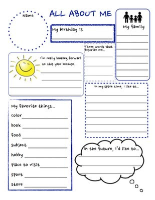 Getting to Know You Worksheet Getting to Know You Worksheet