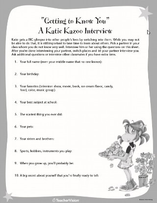 """Getting to Know You Worksheet Getting to Know You"""" Interview Sheet Printable 2nd 4th"""