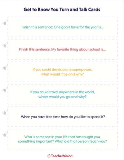 Getting to Know You Worksheet Getting to Know Your Students Lessons & Icebreakers K 12