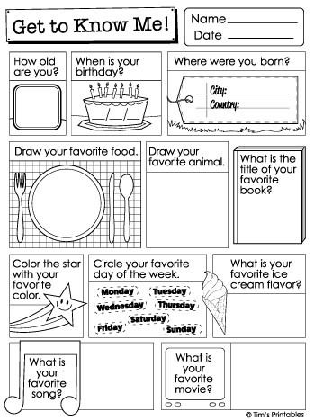 Getting to Know You Worksheet Printable Get to Know Me Questions Worksheets & List Pdf Packet
