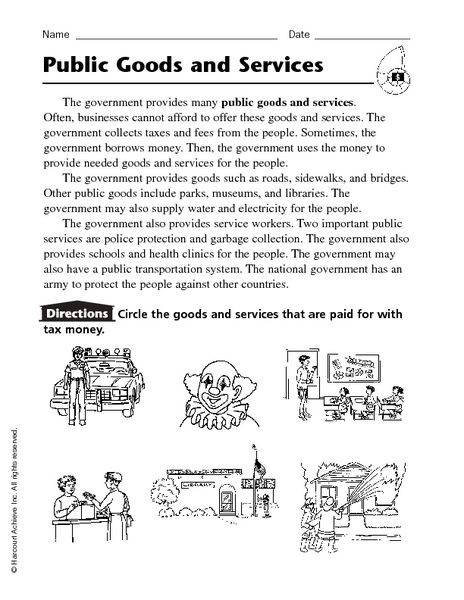 Goods and Services Worksheet Worksheets Goods and Services Worksheets Good and Services