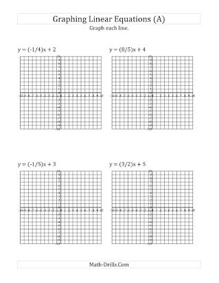 Graphing Linear Functions Worksheet Answers Free Printable Graphing Linear Equation Worksheets