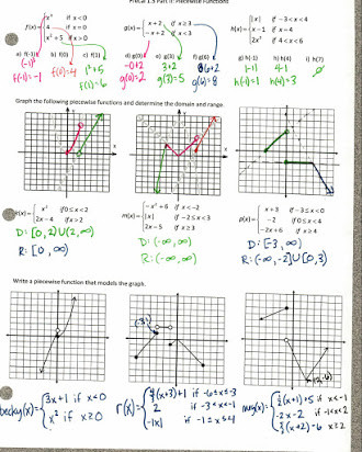 Graphing Linear Functions Worksheet Answers Lesson 4 Homework Practice Linear Functions Answers