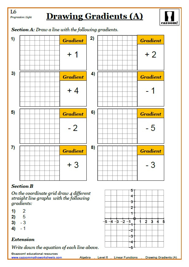 Graphing Linear Functions Worksheet Answers Linear Functions Worksheet No 1 source