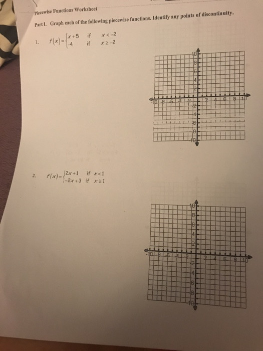 Graphing Piecewise Functions Worksheet solved Functions Worksheet Graph Each the Following Pi