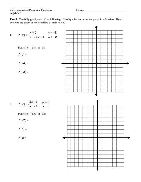Graphing Piecewise Functions Worksheet Worksheet Piecewise Functions Algebra 2 Nidecmege