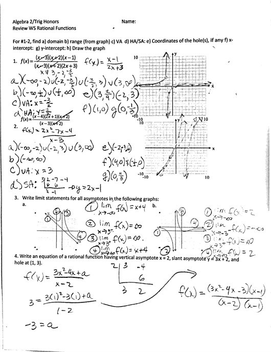 Graphing Rational Functions Worksheet 34 Rational Functions Worksheet with Answers Free