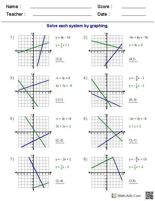 Graphing Systems Of Inequalities Worksheet 25 Graphing Inequalities Worksheet Answers In 2020