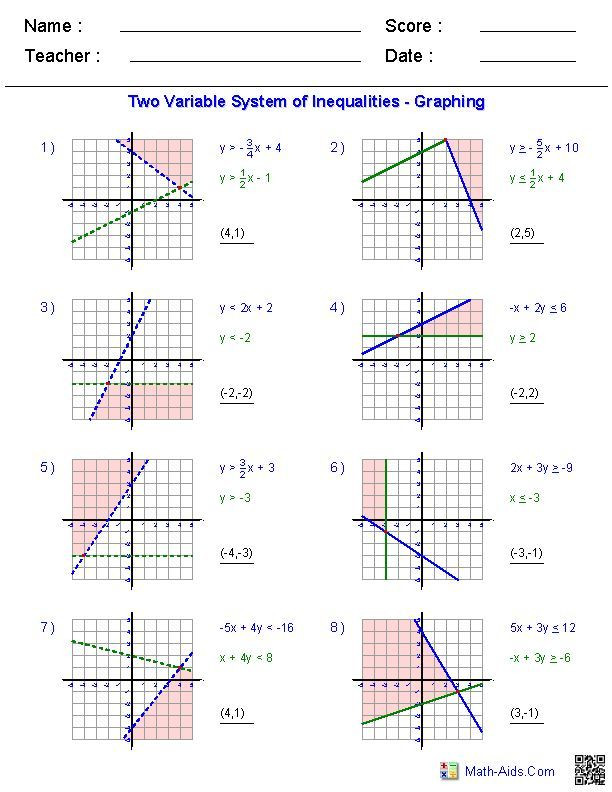 Graphing Systems Of Inequalities Worksheet 27 solving and Graphing Inequalities Worksheet Answer Key
