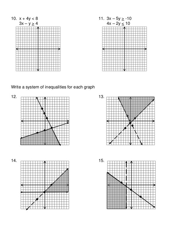 Graphing Systems Of Inequalities Worksheet 7 6 Systems Of Inequalities Worksheet