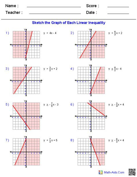 Graphing Systems Of Inequalities Worksheet Download Graph Linear Inequalities Worksheet Epub forms