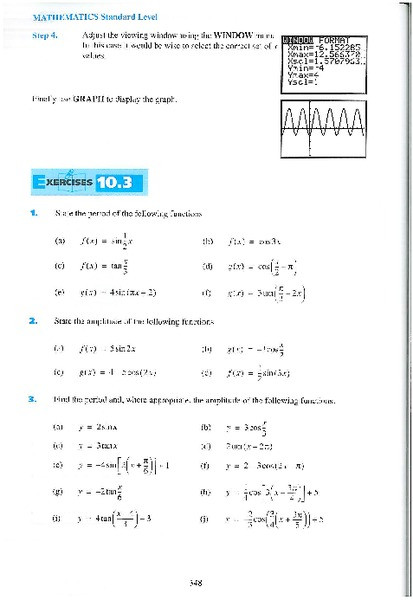 Graphing Trig Functions Worksheet Graphing Trigonometric Functions Worksheet for 11th 12th
