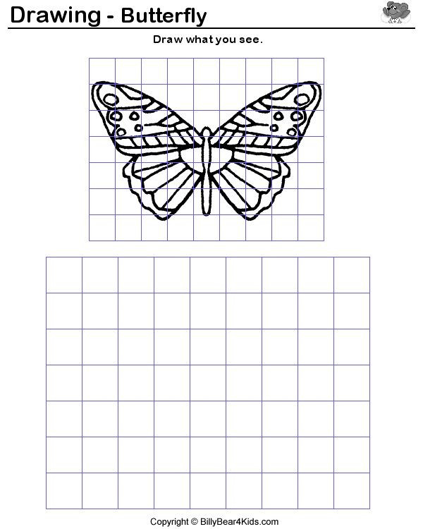 Grid Drawing Worksheets Middle School How to Enlarge A Drawing Using A Grid Google Search
