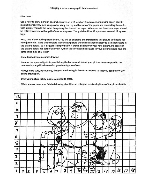 Grid Drawing Worksheets Middle School the Helpful Art Teacher How to Create and Use A Drawing Grid