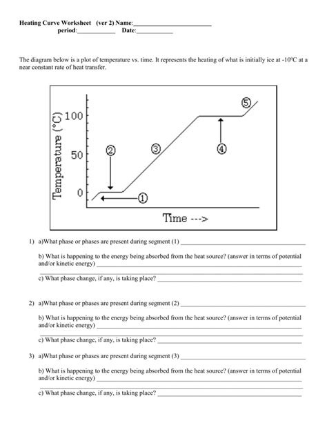 Heating and Cooling Curve Worksheet Heating Curve Worksheet Answers for Kindle E Book Line