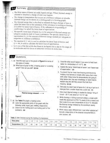 Heating and Cooling Curve Worksheet Heating Heating Curve Worksheet