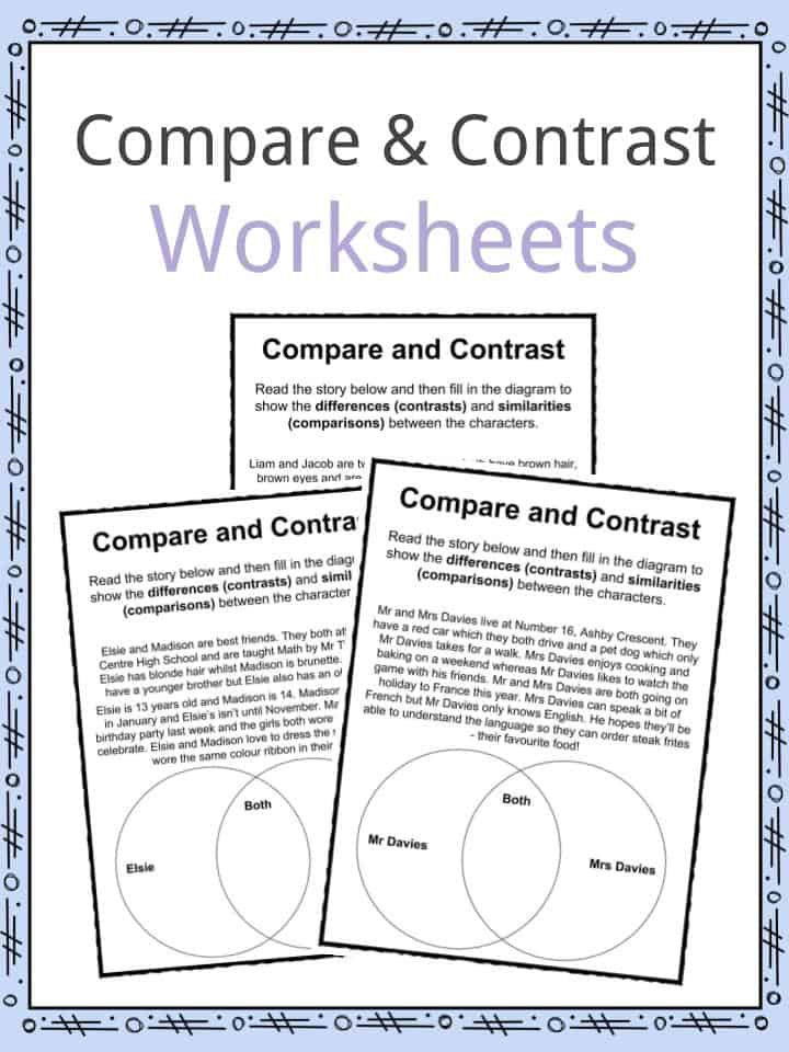 Homonym Worksheets High School Pare and Contrast Worksheets Lesson Plan Pdf S