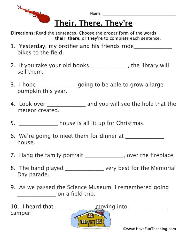 Homophone Worksheets Middle School their there they Re Fill In the Blank Homophones Worksheet