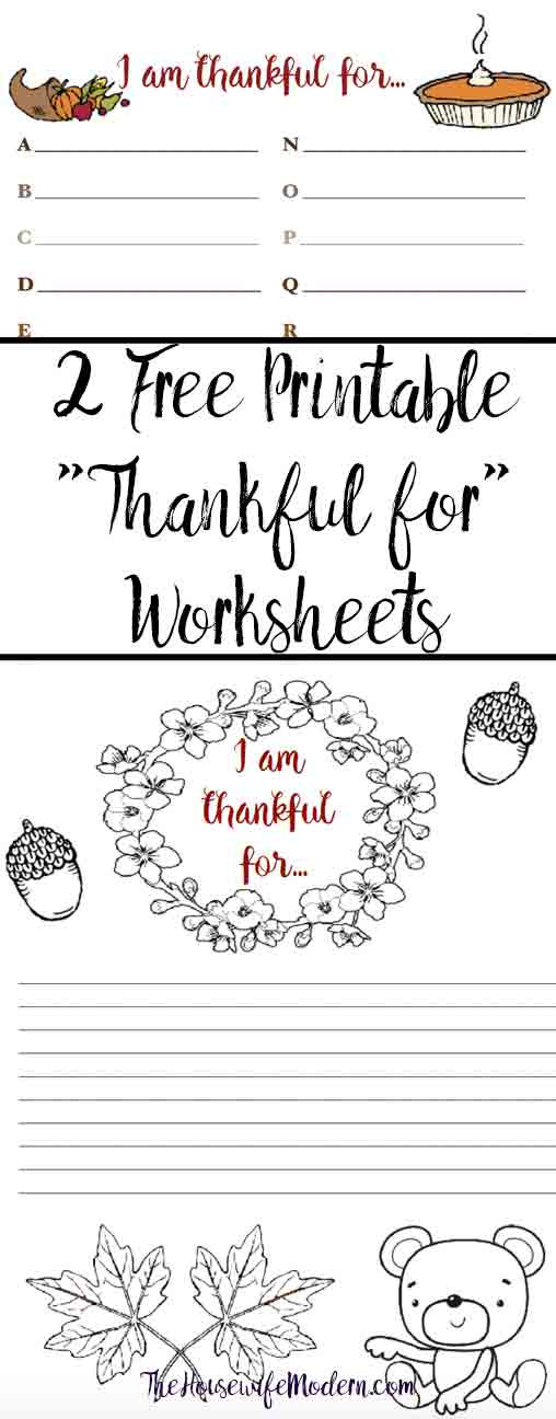 "I Am Thankful for Worksheet Free Printable ""thankful for"" Worksheet 2 Designs"