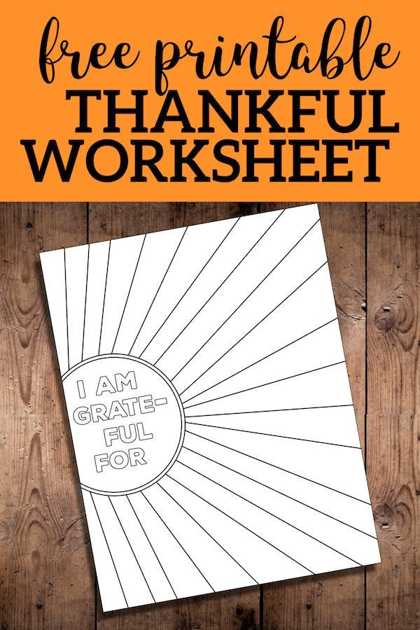 I Am Thankful for Worksheet I Am Thankful for Worksheet Free Printable