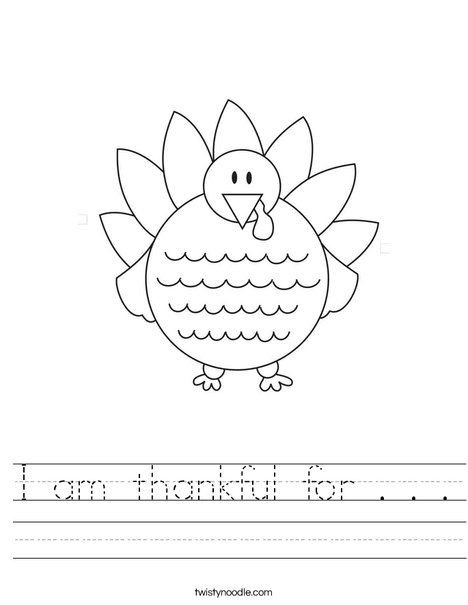 I Am Thankful for Worksheet I Am Thankful for Worksheet Twistynoodle