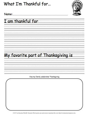 I Am Thankful for Worksheet What I M Thankful for Writing Sheet