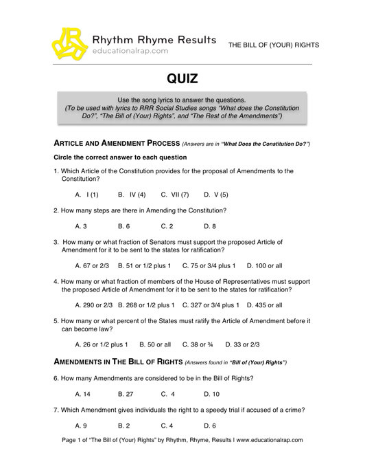 I Have Rights Worksheet Answers 31 Bill Rights Worksheet Answers Worksheet Resource Plans