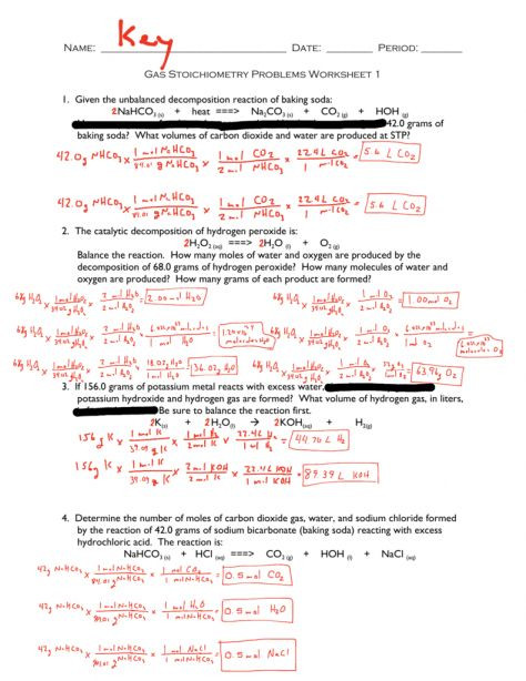 Ideal Gas Laws Worksheet 10 Gas Stoichiometry Worksheet Answers and Work Work