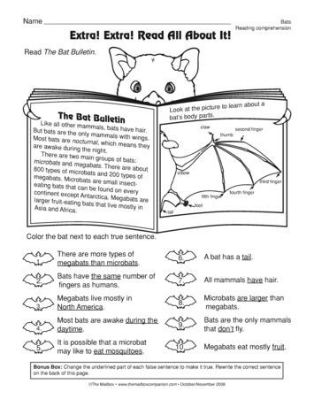 Informational Text Worksheets Middle School A Prehension Worksheet with Informational Text A Bat