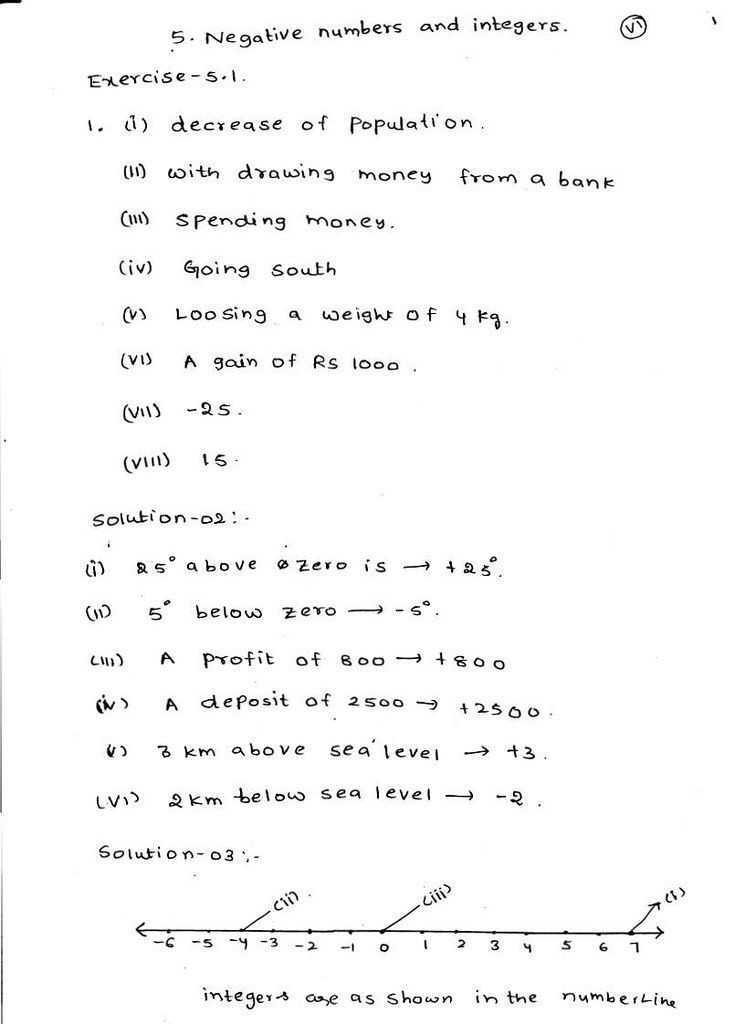 Integers and Absolute Value Worksheet Class 6 Maths Integers Worksheets