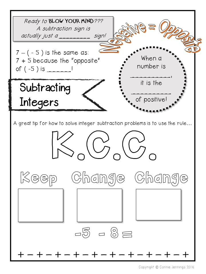 Integers and Absolute Value Worksheet Integer Notes Integers Absolute Value Paring Adding